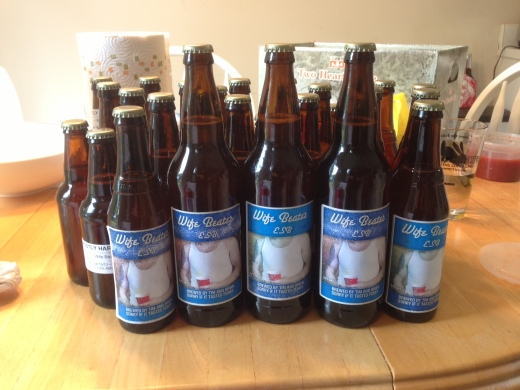Bottled our first beer!  Wife Beater ESB.