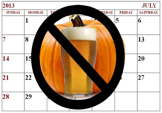No Pumpkin Beer Before Its Time