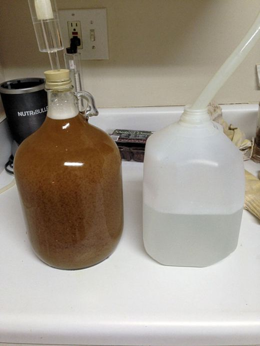 In the jug and ready to ferment.