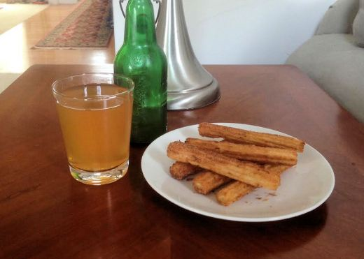 Traditional sima and Little Caesar's churros