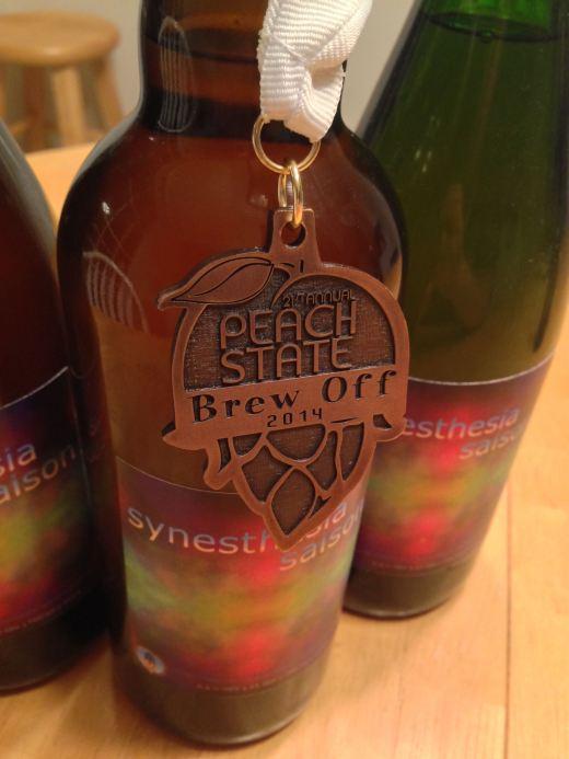 Synesthesia Saison takes bronze at the 2014 Peach State Brew Off!