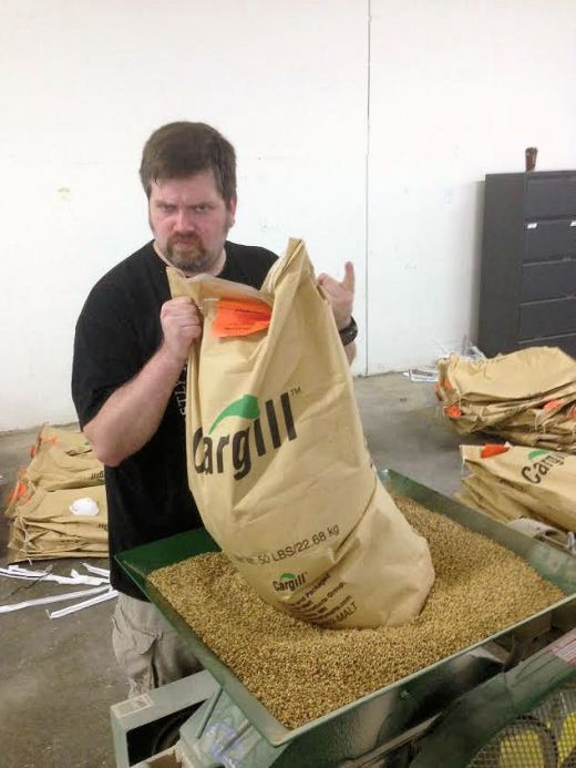 Heavy Metal Hewitt crushing some grains
