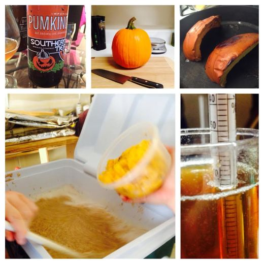 Pumpkin ale brew day in review.