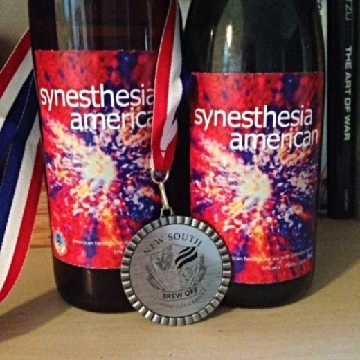 Winner!  Synesthesia American took Silver for category at the 2015 New South Brew Off